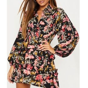 Pretty Little Thing Long Sleeve Floral Dress
